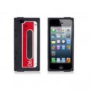 Tape Case - силиконов калъф за iPhone 5, iPhone 5S, iPhone SE (черен)
