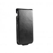SENA Hampton Flip - кожен калъф (ръчна изработка, естествена кожа) за iPhone 5, iPhone 5S, iPhone SE (черен) 1