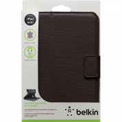 Belkin Leather Tab с Auto Wake - кожен калъф с поставка за iPad Mini, iPad mini 2, iPad mini 3 (кафяв) 3