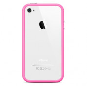 Apple iPhone 5, iPhone 5S, iPhone SE Bumper - силиконов бъмпер за iPhone 5, iPhone 5S, iPhone SE (розов) 2