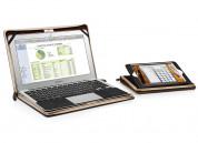 TwelveSouth BookBook - луксозен кожен калъф за iPad mini, iPad mini 2, iPad mini 3 (кафяв) 2