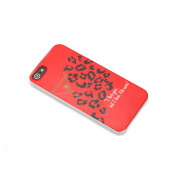 Sex And The City Leopard Case - поликарбонатов кейс за iPhone 5, iPhone 5S, iPhone SE (червен)