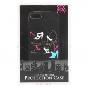 Sex And The City Me Likey Gold Case - поликарбонатов кейс за iPhone 5, iPhone 5S, iPhone SE (черен) 5