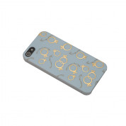 Sex And The City Rings Case - поликарбонатов кейс за iPhone 5, iPhone 5S, iPhone SE (син)