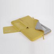 Tucano Second Skin Microfiber - неопренов калъф за MacBook Pro 17 инча (жълт) 2