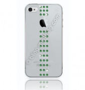 Swarovski Stripe Fern Green - кейс с кристали на Сваровски за iPhone 4 1