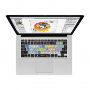 Illustrator CS6 QWERTY Keyboard Cover - силиконова обвивка за Adobe Illustrator CS6 за MacBook, MacBook Air и MacBook Pro