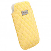 Krusell Avenyn Mobile Pouch XXL for Samsung Galaxy S2, HTC Sensation, LG and smartphones (yellow)
