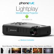 PhoneSuit Lightplay Smart Pico HD Projector with Android 3