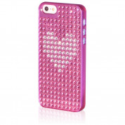 Bling My Thing Heart Extravaganza - кейс с кристали Сваровски за iPhone 5, iPhone 5S, iPhone SE (розов) 1