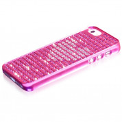 Bling My Thing Heart Extravaganza - кейс с кристали Сваровски за iPhone 5, iPhone 5S, iPhone SE (розов) 2