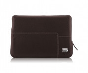 Urbano Genuine Premium Cowhide Sleeve - кожен калъф (естествена кожа) за MacBook Air 11 и лаптопи до 11 ин. (тъмнокафяв)