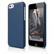 Elago C5 Slim Fit 2 Case + HD Clear Film - кейс и HD покритие за iPhone 5C (тъмносин)