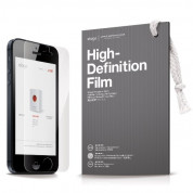 Elago C5 Slim Fit Case + HD Clear Film - кейс и HD покритие за iPhone 5C (светлосин) 4