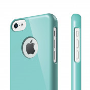 Elago C5 Slim Fit Case + HD Clear Film - кейс и HD покритие за iPhone 5C (светлосин) 1