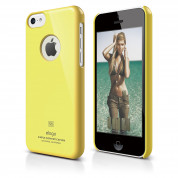 Elago C5 Slim Fit Case + HD Clear Film - кейс и HD покритие за iPhone 5C (жълт)