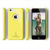 Elago C5 Slim Fit Case + HD Clear Film - кейс и HD покритие за iPhone 5C (жълт) 2
