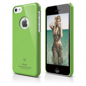 Elago C5 Slim Fit Case + HD Clear Film - кейс и HD покритие за iPhone 5C (зелен)