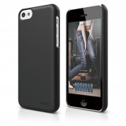 Elago C5 Slim Fit 2 Case + HD Clear Film - кейс и HD покритие за iPhone 5C (черен-мат)