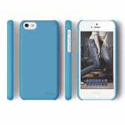 Elago C5 Slim Fit 2 Case + HD Clear Film - кейс и HD покритие за iPhone 5C (син-матиран) 2