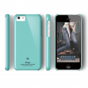 Elago C5 Slim Fit 2 Case + HD Clear Film - кейс и HD покритие за iPhone 5C (светлосин) 2