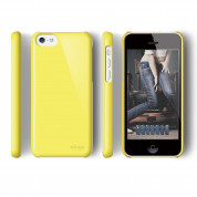 Elago C5 Slim Fit 2 Case + HD Clear Film - кейс и HD покритие за iPhone 5C (жълт) 2