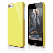 Elago C5 Slim Fit 2 Case + HD Clear Film - кейс и HD покритие за iPhone 5C (жълт)