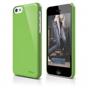 Elago C5 Slim Fit 2 Case + HD Clear Film - кейс и HD покритие за iPhone 5C (зелен)