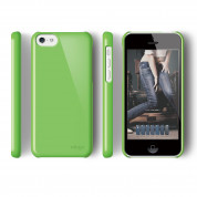 Elago C5 Slim Fit 2 Case + HD Clear Film - кейс и HD покритие за iPhone 5C (зелен) 2