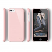 Elago C5 Slim Fit 2 Case + HD Clear Film - кейс и HD покритие за iPhone 5C (светлорозов) 2