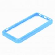 TPU Bumper Frame - силиконов бъмпер за iPhone 5C (син) 3