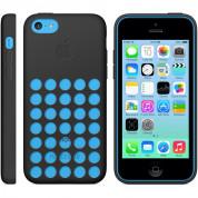 Apple iPhone Case - оригинален силиконов калъф за iPhone 5C (черен) 6