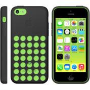 Apple iPhone Case - оригинален силиконов калъф за iPhone 5C (черен) 5