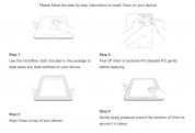 Moshi iVisor XT Clear - качествено защитно покритие за iPad Air, iPad 5 (2017) (черен) 3