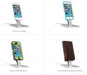 TwelveSouth HiRise - алуминиева повдигаща поставка за iPhone и iPad (сребриста) 4