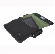 Knomo Kilkenny Cross Body - кожена чанта с презрамка за MacBook Air 11 и таблети (черен) 3