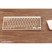 Lazerwood Apple Wireless Keyboard Wallnut - креативен скин от истинско дърво за Apple Wireless Keyboard (лешник) 3