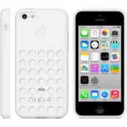 Dot Mesh Case - силиконов калъф за iPhone 5C (бял) 4