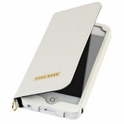 HUGO BOSS Gracious Booklet Case - луксозен кожен калъф за iPhone 5, iPhone 5S, iPhone SE (бял) 2