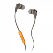 Skullcandy Inkd 2.0 Mic - слушалки с микрофон за iPhone и мобилни телефони (сив-оранжев)