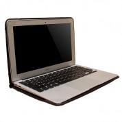 Urbano Leather Folder Case - кожен калъф (естествена кожа) за MacBook Air 13 (светлокафяв) 4