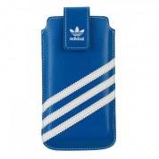 Adidas Universal Sleeve XXL - кожен калъф с лента за издърпване за Samsung Galaxy S4, HTC One, Nokia Lumia 920, Blacberry Z10 и др. (син) 2