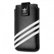 Adidas Universal Sleeve XXL - кожен калъф с лента за издърпване за Samsung Galaxy S4, HTC One, Nokia Lumia 920, Blacberry Z10 и др. (черен)
