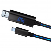 Blue Bridge Luminous Lightning to USB Cable - светещ USB кабел за iPhone, iPad и iPod с Lightning (черен)