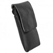 Krusell Dalby Mobile Case - кожен калъф за iPhone 8, iPhone 7, iPhone 6S/5/5S/4/4S, Nexus 5, Galaxy S5, Samsung Galaxy S5 Neo, S4 mini, HTC One X, LG G2 и др. (черен)