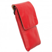 Krusell Dalby Mobile Case - кожен калъф за iPhone 6, iPhone 6S/5/5S/4/4S, Nexus 5, Galaxy S4 mini, HTC One X, LG G2 и др. (червен)