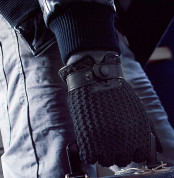 Mujjo Leather Crochet Touchscreen Gloves (8 size) 7