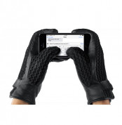 Mujjo Leather Crochet Touchscreen Gloves (8 size) 4