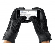 Mujjo Leather Crochet Touchscreen Gloves (8 size) 9