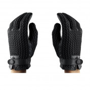 Mujjo Leather Crochet Touchscreen Gloves (8 size) 10
